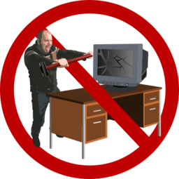 Clipart Computer Rage Forbidden 256x256 4ce8 Png
