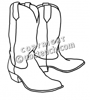 Cowboy Boots Clipart Black And White Images   Pictures   Becuo