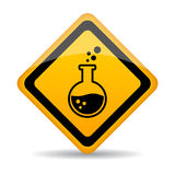 Danger Chemicals Warning Sign Royalty Free Stock Photography