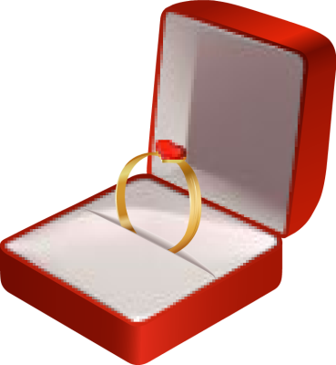 Engagement Ring In Box Clipart - Clipart Kid