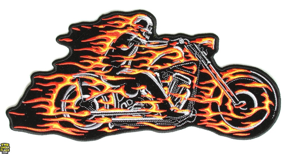 Ghost Rider Skeleton Motorcycle Patch
