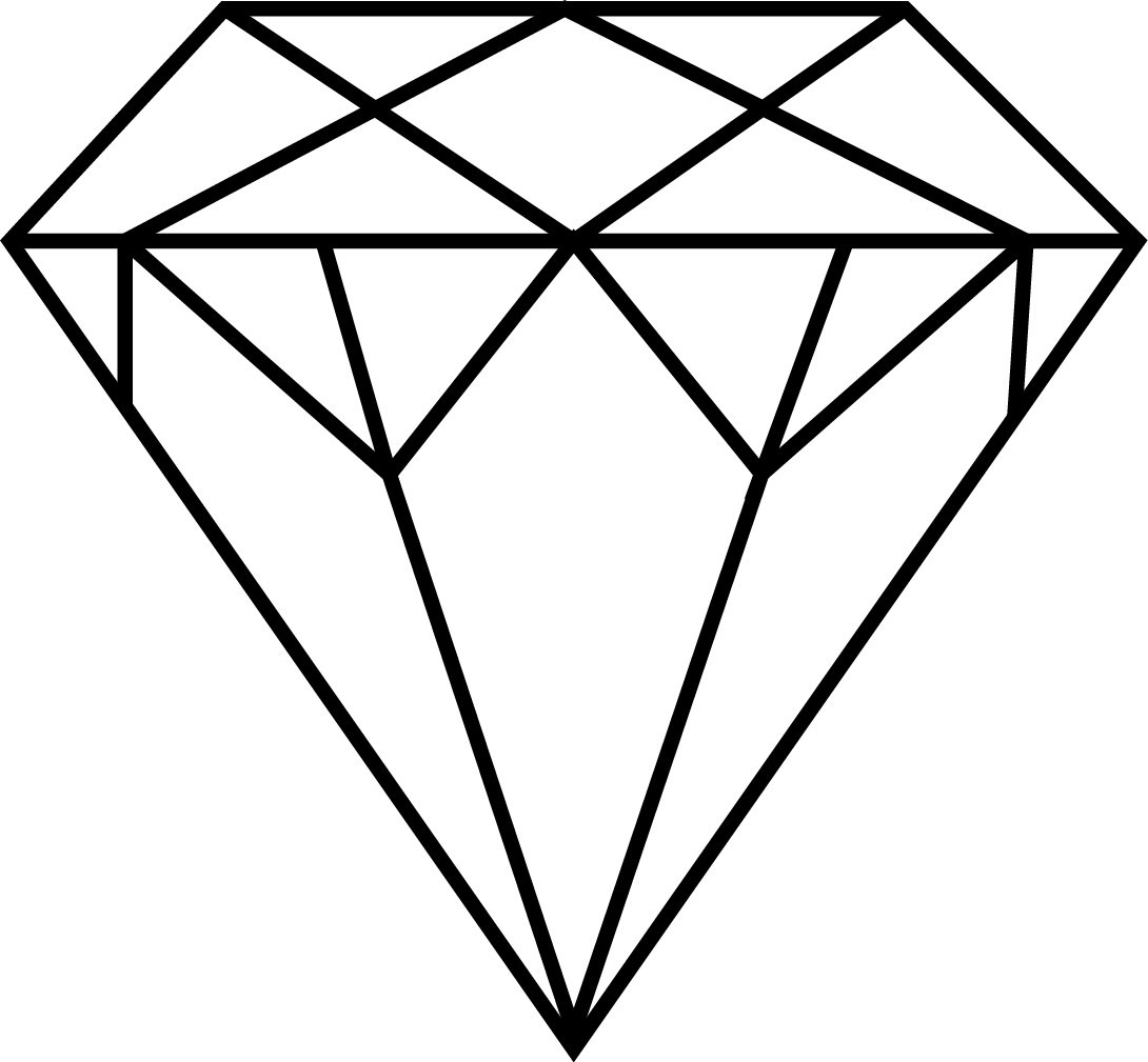 How To Draw A Diamond      Youtube