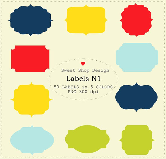 Label Or Tag Clipart Frames Clipart Royalty Free Clipart N01 Blue