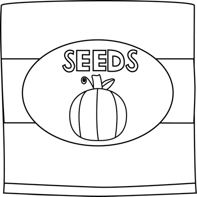 Pumpkin Seed Packet Clip Art   Black And White Pumpkin Seed Packet