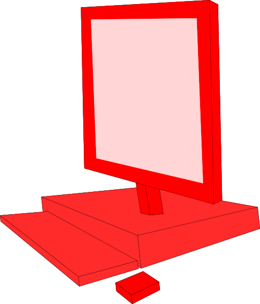 Red Computer Clipart   I2clipart   Royalty Free Public Domain Clipart