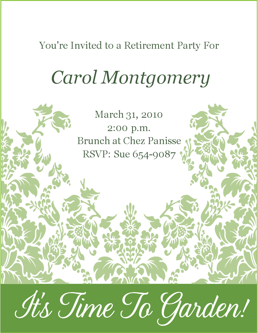 Retirement Invitations Templates Free Start Free Trial  Cancel