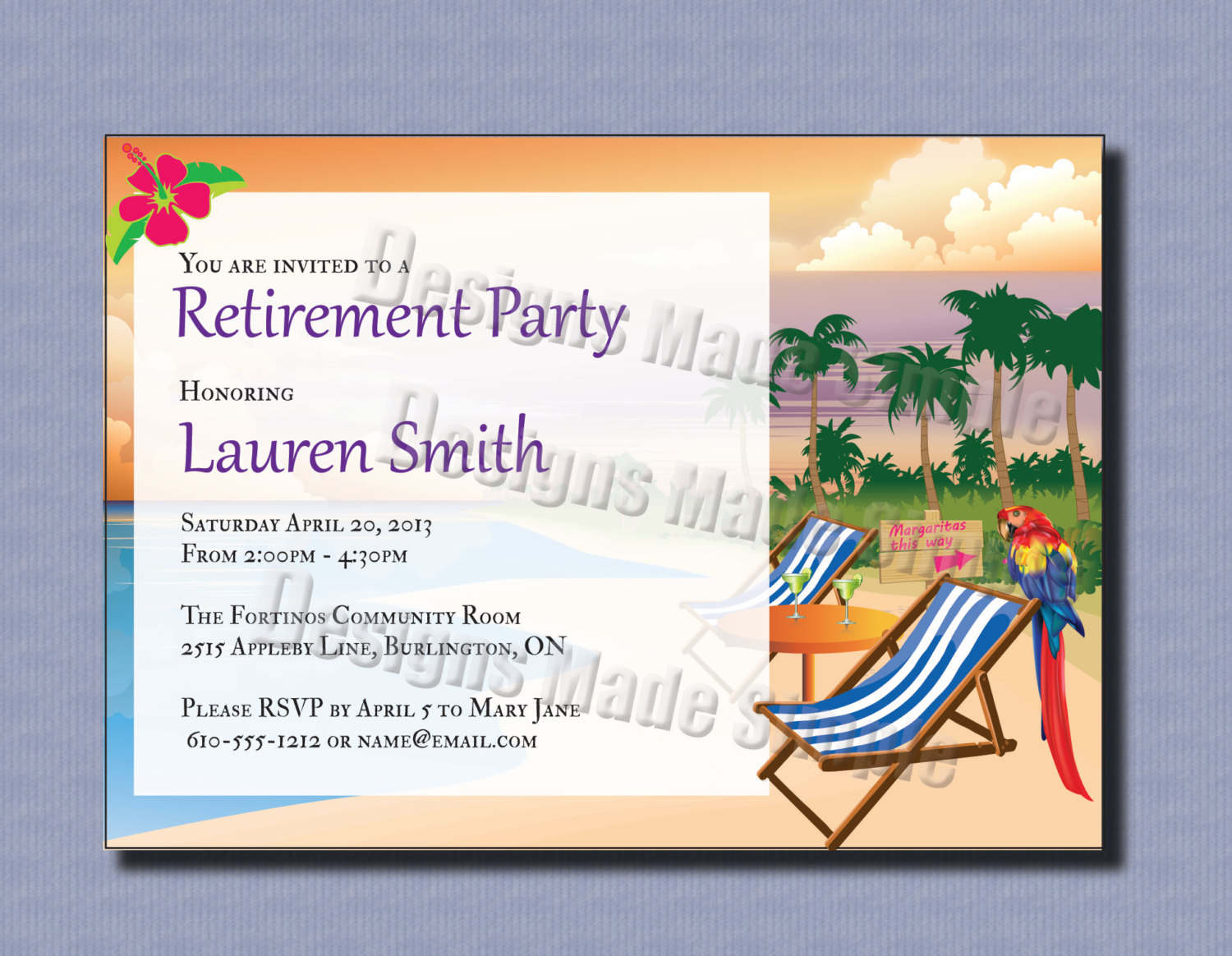 Retirement Party Invitations Template   Best Template Collection