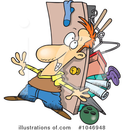 Royalty Free  Rf  Closet Clipart Illustration By Ron Leishman   Stock