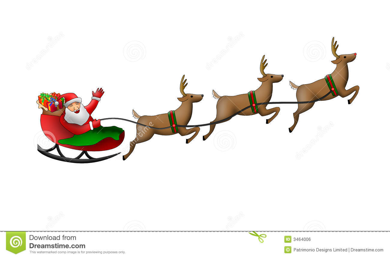 Sleeping On His Santa Sleigh Clipart - Clipart Kid