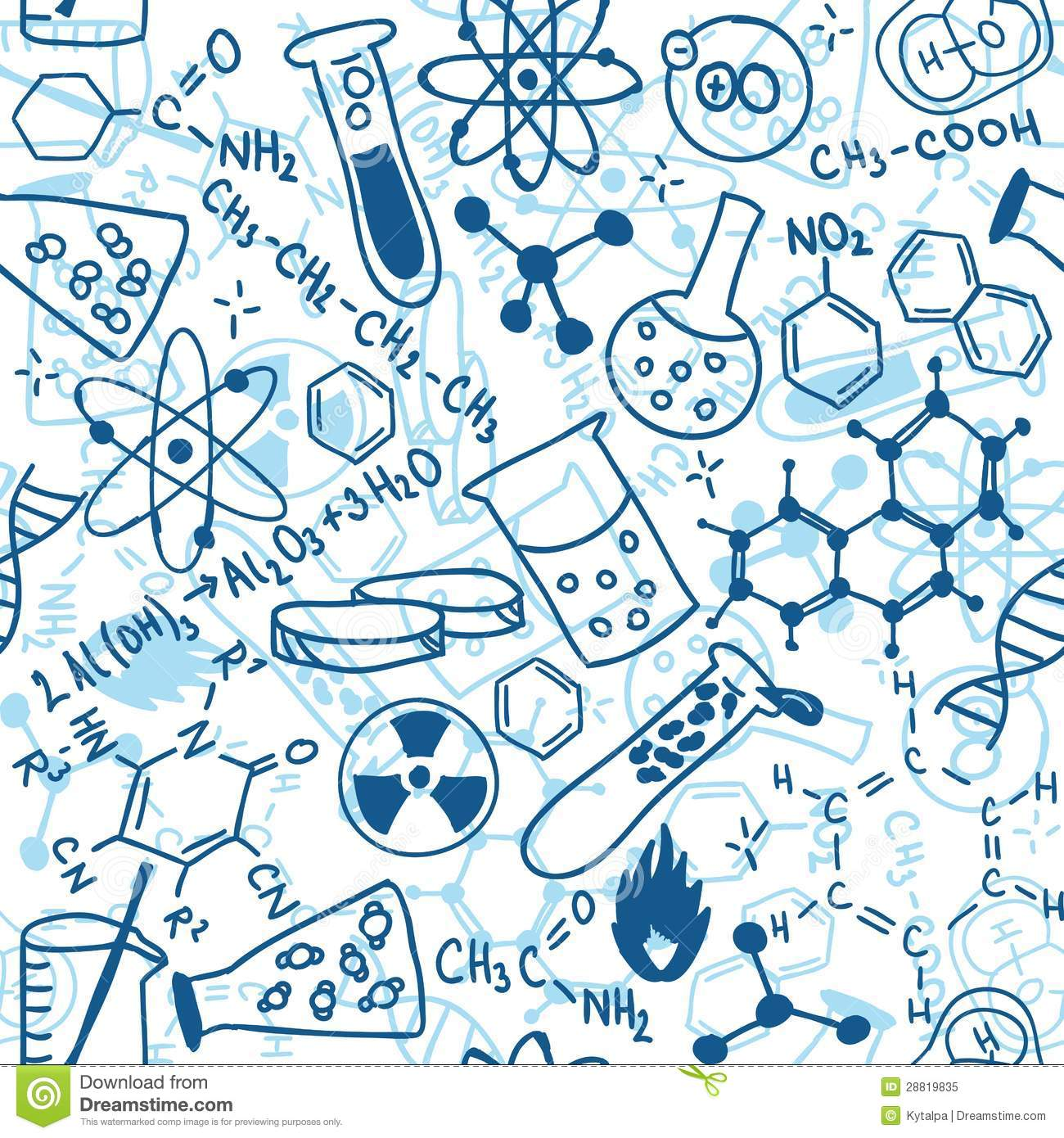 Seamless Pattern Background   Illustration Of Science Drawings Doodle
