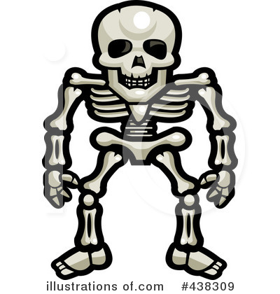 Skeleton Clipart  438309 By Cory Thoman   Royalty Free  Rf  Stock