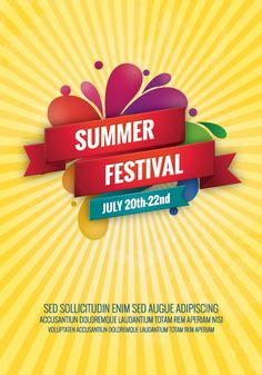 Summer Festival Dryicons Com  Summer  Festival  Poster  Design More