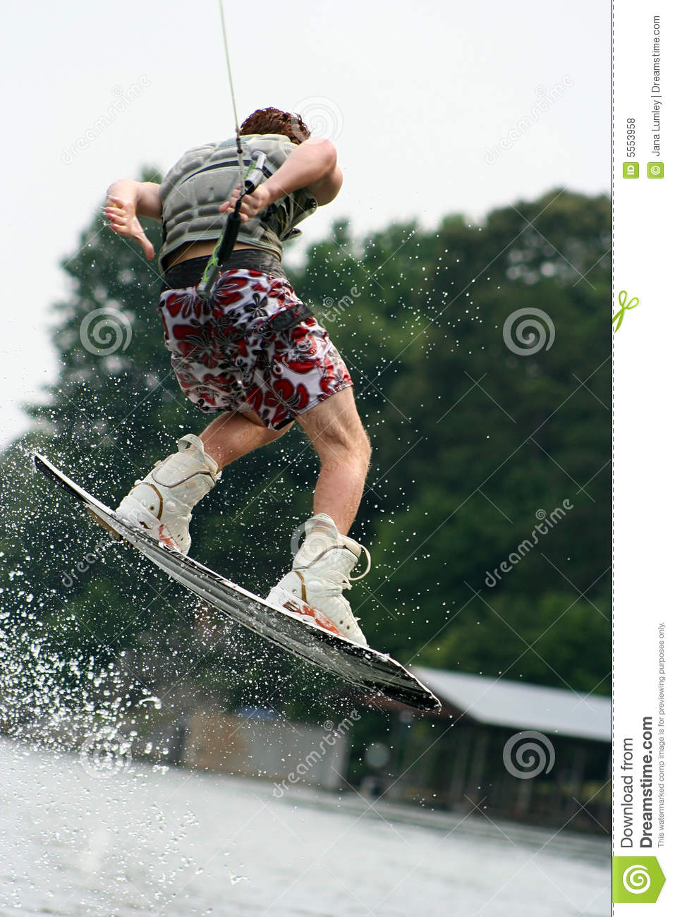 Wakeboarding Teen Boy Royalty Free Stock Photos   Image  5553958