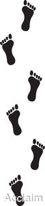 Walking Footprint Border Clipart