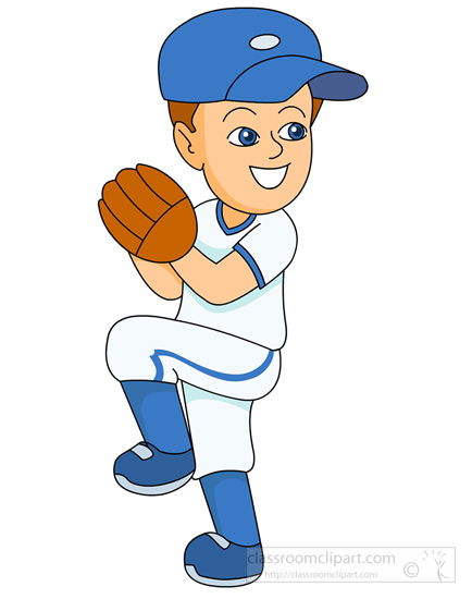 Baseball Clipart   Baseball Pitcher Ready To Throw Ball   Classroom