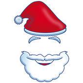 Santa Beard Clipart - Clipart Kid