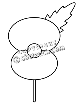 Clip Art  Poppy Graphic 2 B W   Preview 1