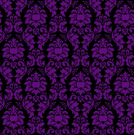 Damask Wallpaper Seamless Background Purple And Black Background Or