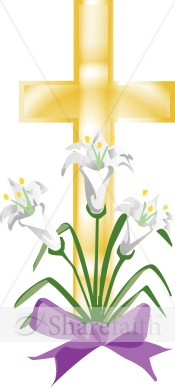 Easter Lily Cross   Cross Clipart