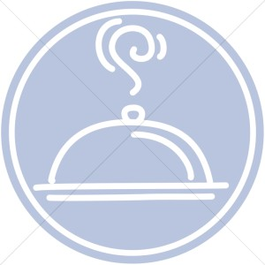 Fancy Main Course Meal   Church Food Clipart