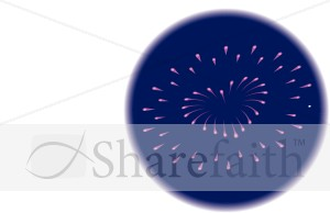 Heart Shaped Explosion   Independence Day Clipart
