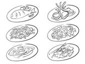 Main Course Illustrations And Clipart  19 Main Course Royalty Free