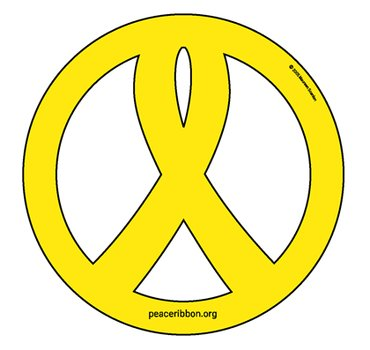 Peace Sign Ribbon