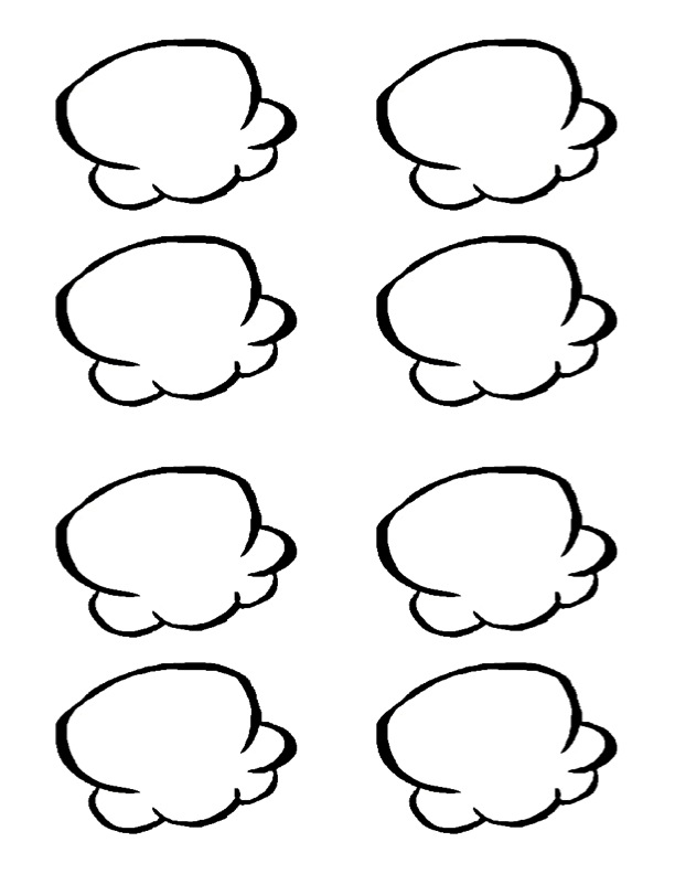 Popcorn Kernels Outline Clipart - Clipart Kid