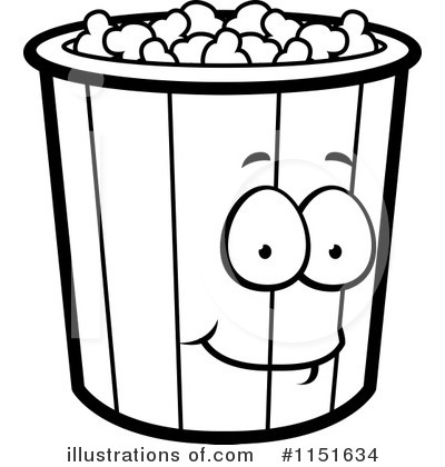 Popcorn Clipart  1151634   Illustration By Cory Thoman