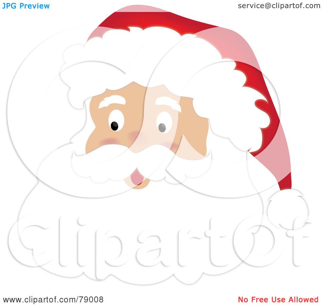 Santa Beard Clipart - Clipart Suggest