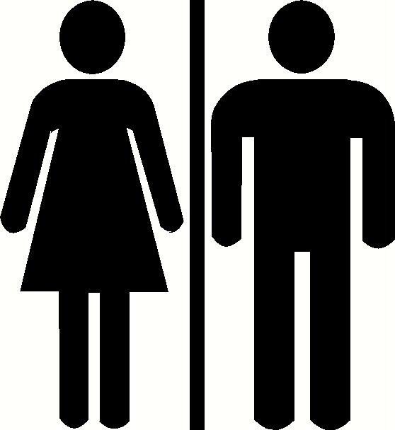 Womens Ladies Restroom Bathroom Door Sign Custom Vinyl Decal Sticker. Men Women Bathroom Sign Clipart   Clipart Kid