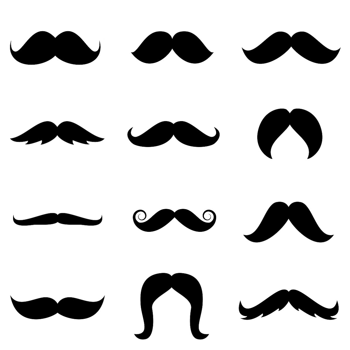 10 Printable Mustaches Templates Free Cliparts That You Can Download