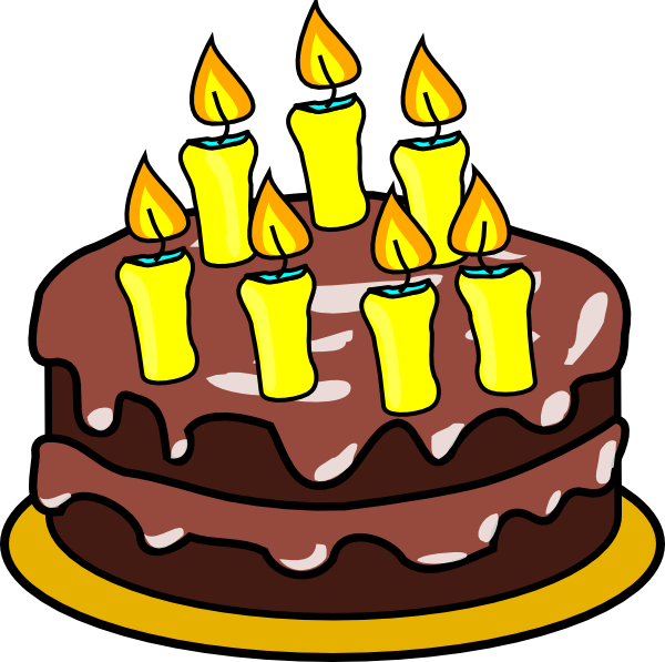 7th Birthday Cake Clip Art At Clker Com   Vector Clip Art Online
