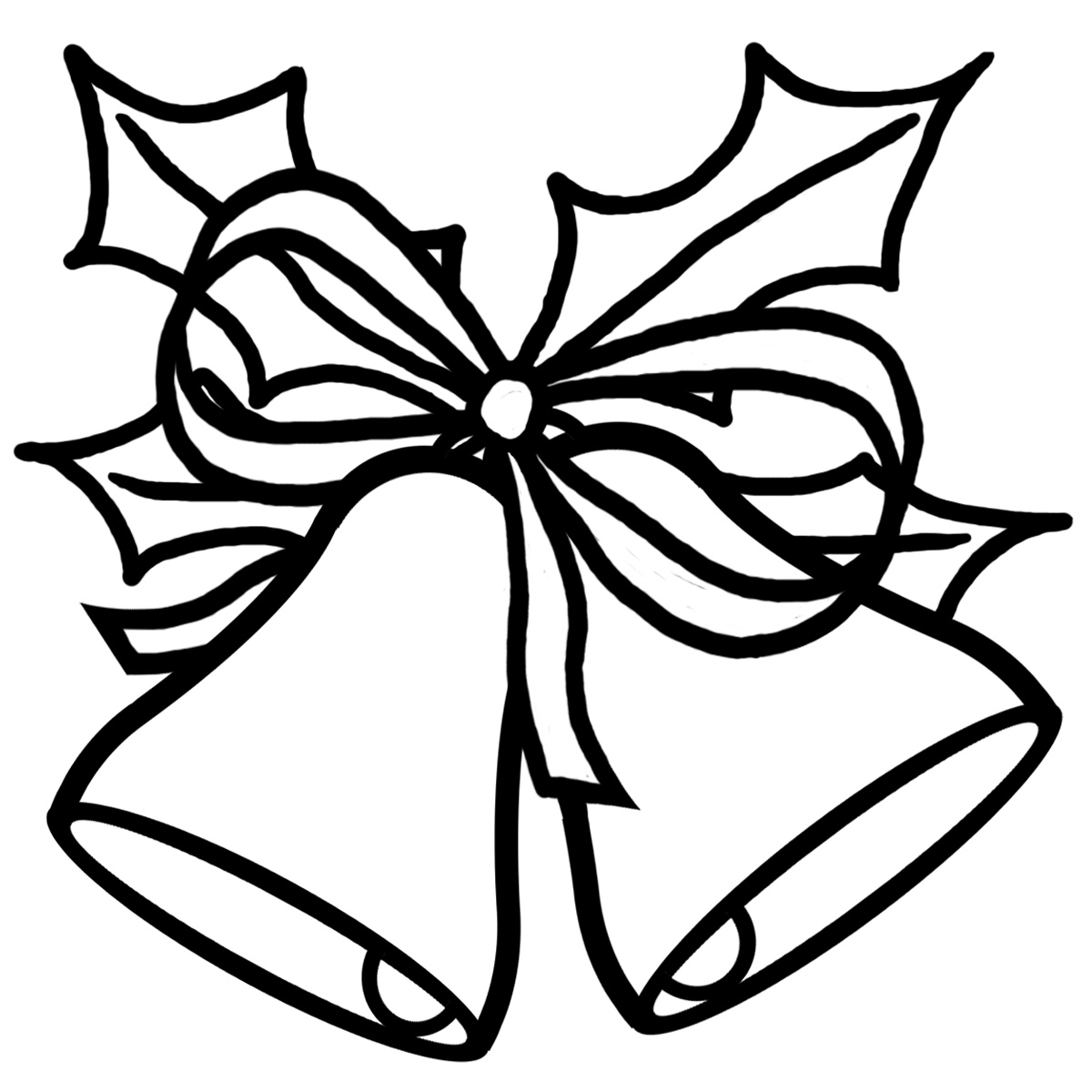 Simple Black And White Christmas Clipart - Clipart Suggest