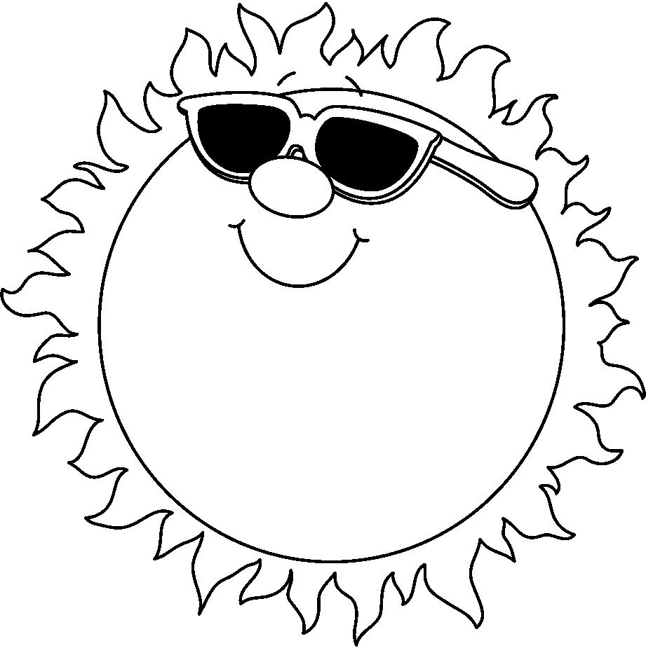 Clipart Of Sun Black And White