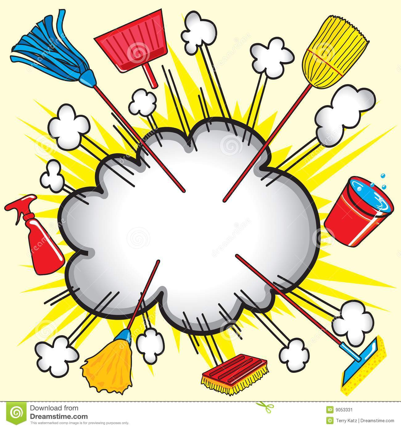 Cloud Burst Explosion With Cleaning Equipment For Business Or