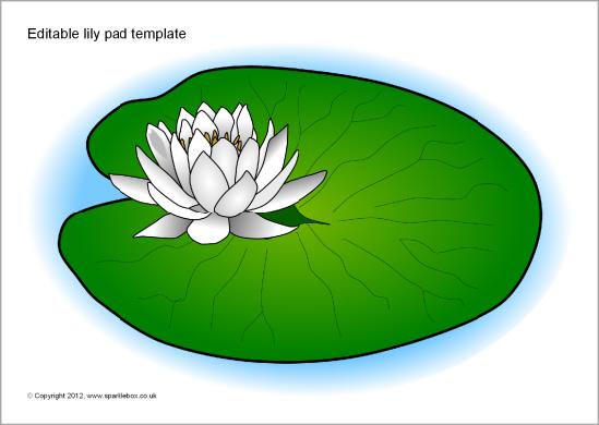 Clip Art Lily Pad Clipart lily pad clipart kid editable template sb8458 sparklebox
