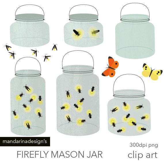 Mason Jar Firefly Clipart - Clipart Kid