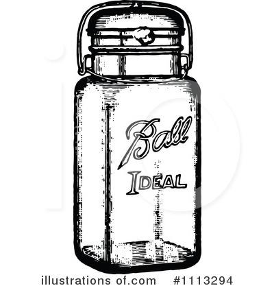 Mason Jar Firefly Clip Art