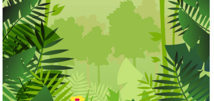 ... Jungle Background Vector From Vector4u Com #c5PByP - Clipart Kid