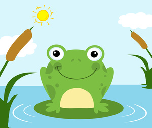 Frog On Lily Pad Clipart - Clipart Kid