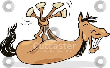 Funny Horse Stock Vector Clipart Cartoon Illustration Of Funny Horse
