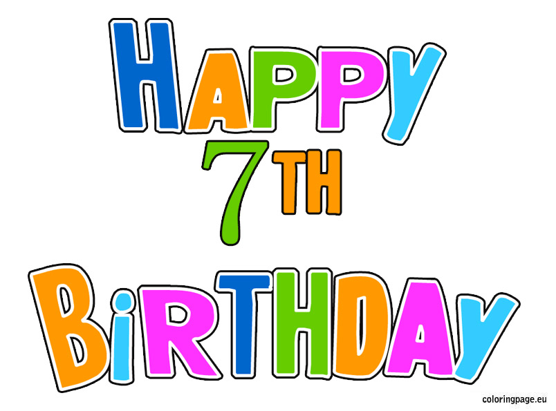 7th Birthday Cards Clipart - Clipart Kid
