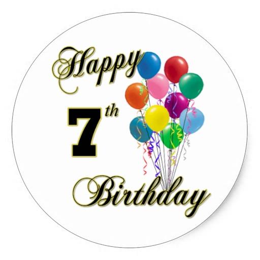 Happy 7th Birthday Sticker And Birthday Apparel #YH3Idm