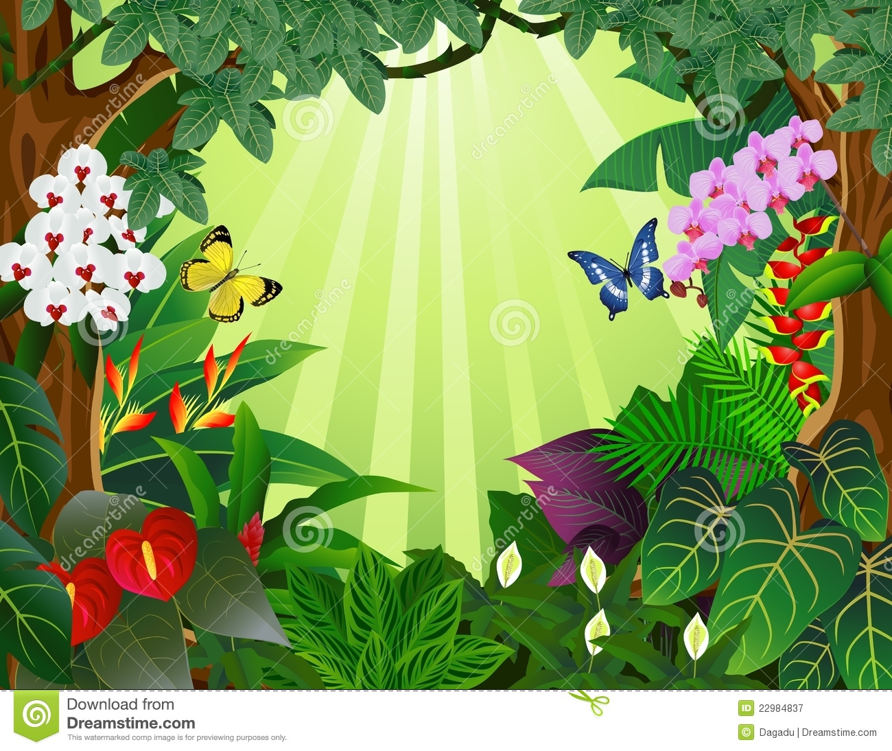 Jungle Background Clipart Clipart Jungle Background