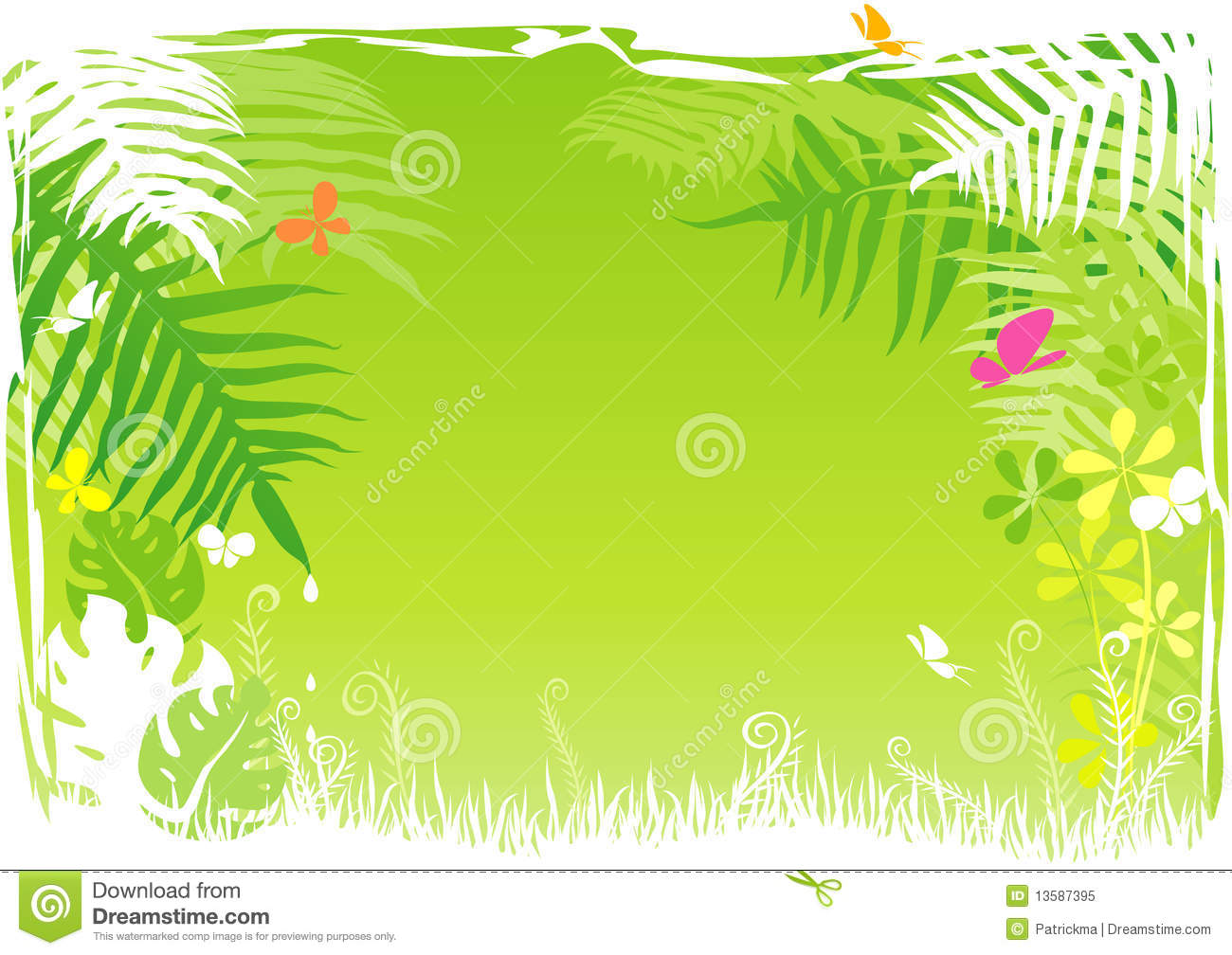 Jungle Background Clipart - Clipart Kid