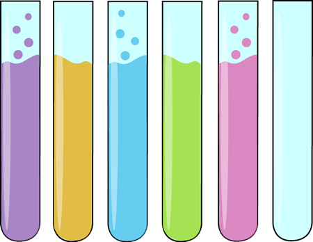 Of Science Test Tubes Clip Art Image   Row Of Glass Science Test Tubes