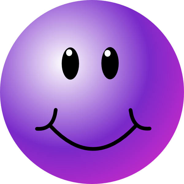 Purple Smiley Face Clip Art At Clker Com   Vector Clip Art Online