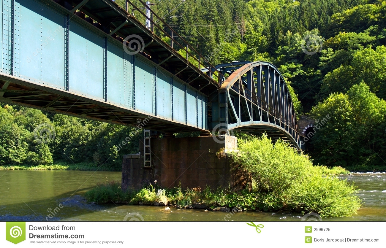 Railroad Bridge Over Water Royalty Free Stock Photo   Image  2996725