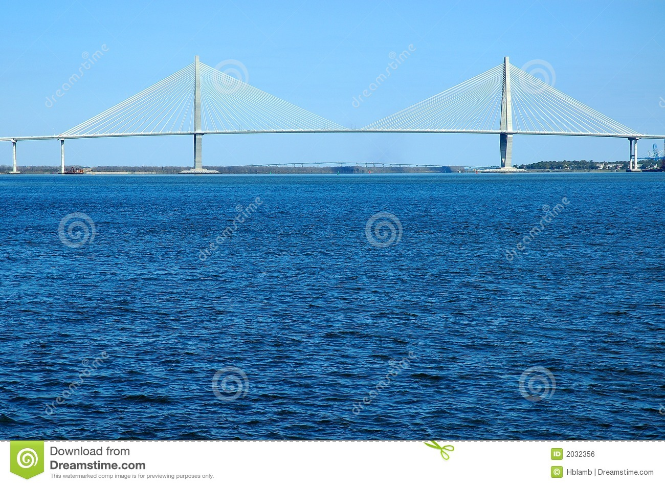 Suspension Bridge Over Water Royalty Free Stock Image   Image  2032356
